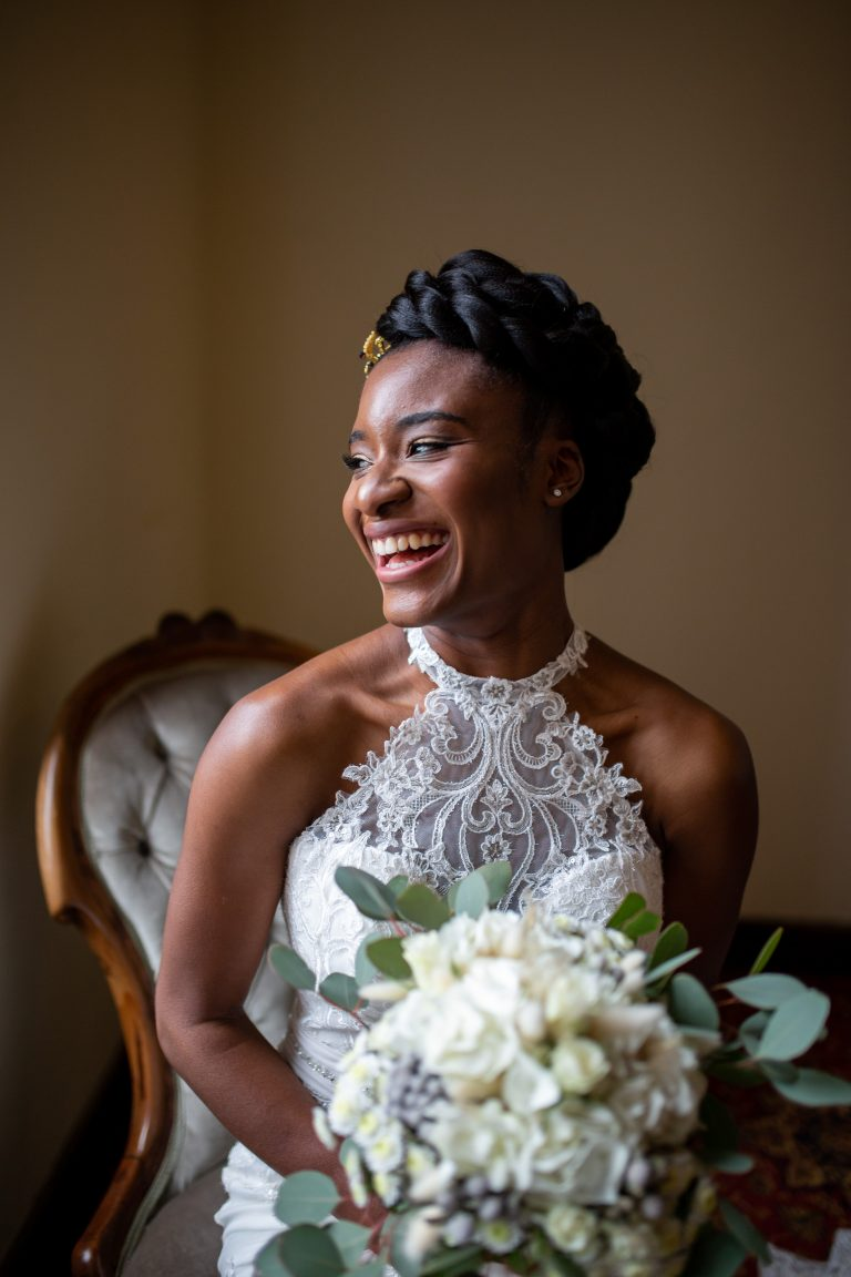 Afro wedding hair